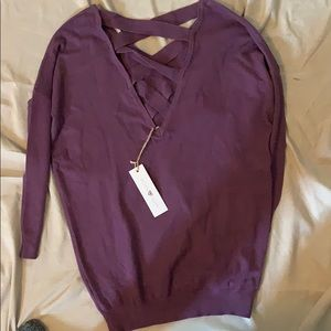 Brand new never worn purple sweater with nice back